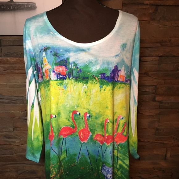 95b2689d1c1fd Leoma Lovegrove flamingo shirt